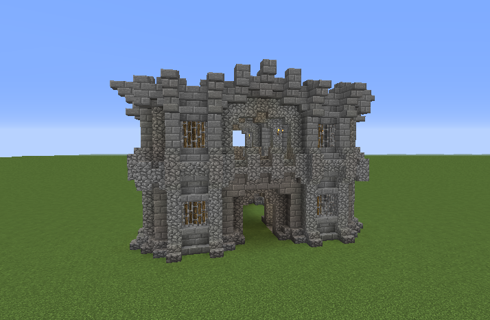minecraft castle gate blueprints