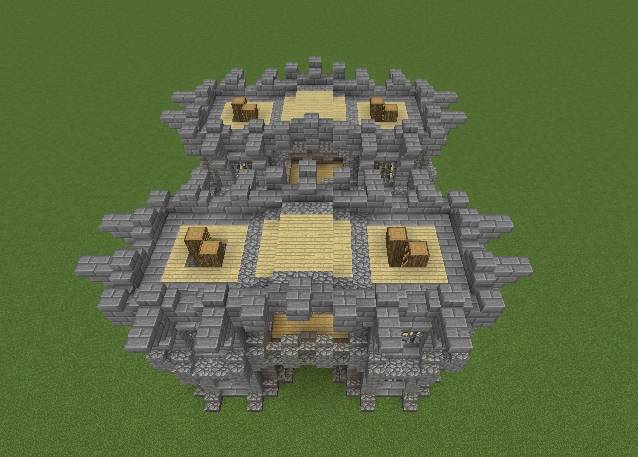 Simple Medieval Castle Wall Gate
