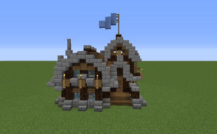 Simple Rustic Small Survival House Blueprints For Minecraft