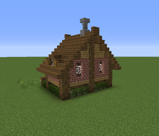 Small Survival House 2 Blueprints For Minecraft Houses Castles Towers And More Grabcraft