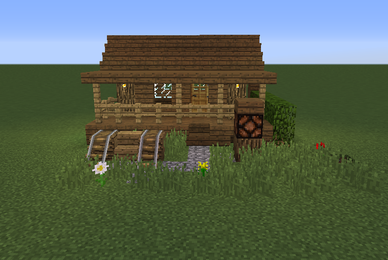Small Wooden Cabin 5 Blueprints For Minecraft Houses Castles Towers And More Grabcraft