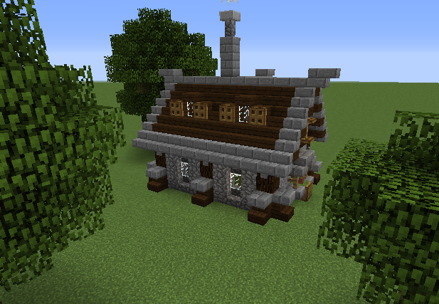 Simple Survival House Blueprints For Minecraft Houses Castles Towers And More Grabcraft