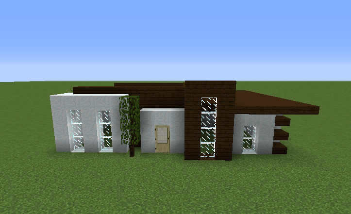 Simple Survival Modern House Blueprints For Minecraft Houses