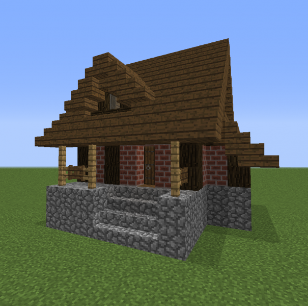 Small Brick House 2 Blueprints For Minecraft Houses Castles Towers And More Grabcraft