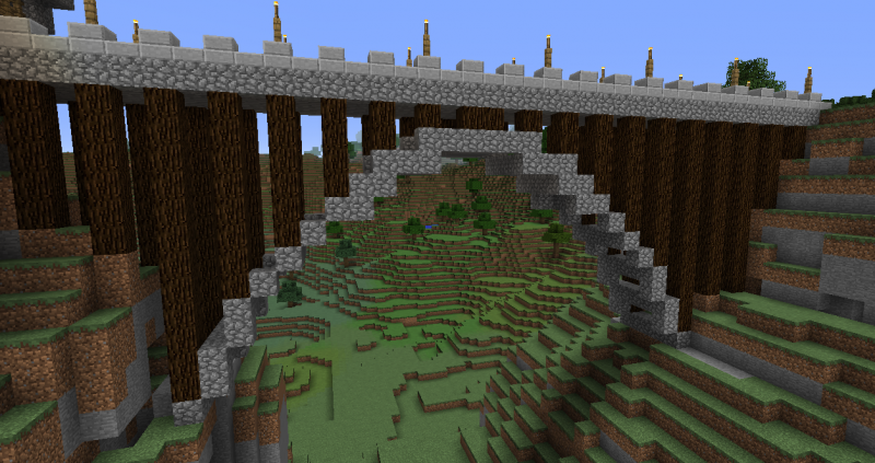 Small Bridge On Stilts Blueprints For Minecraft Houses Castles Towers And More Grabcraft