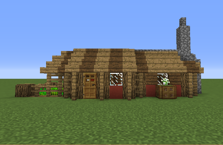 Small Farmhouse Blueprints For Minecraft Houses Castles Towers And More Grabcraft