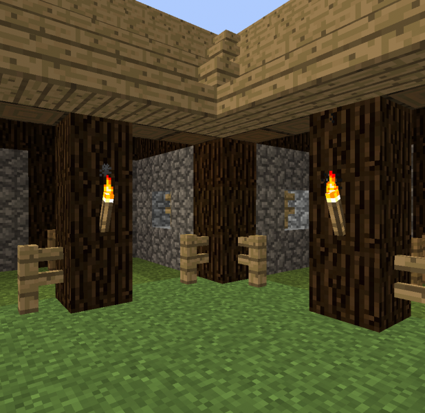 Small Horse Stable Blueprints For Minecraft Houses Castles Towers And More Grabcraft
