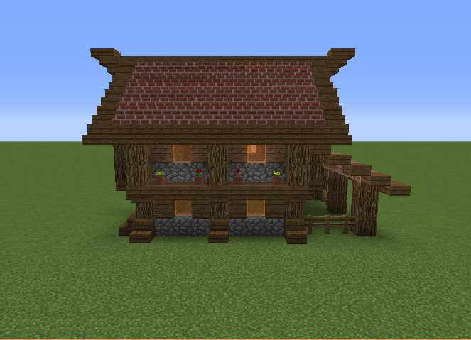 Small Medieval Lodge House Blueprints For Minecraft Houses Castles Towers And More Grabcraft