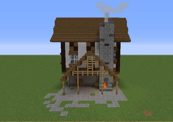 Small Medieval Town House Blueprints For Minecraft Houses Castles Towers And More Grabcraft