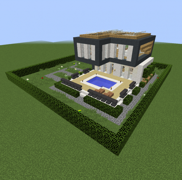 Small Modern Villa Blueprints For Minecraft Houses Castles Towers And More Grabcraft