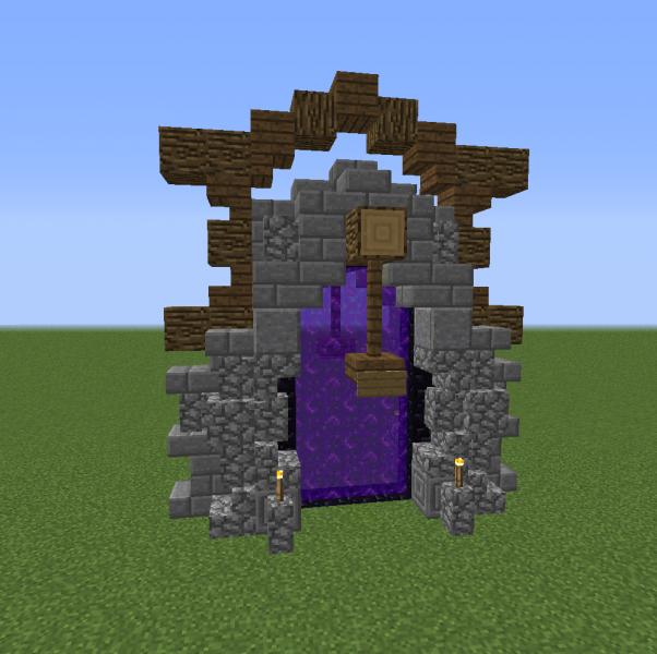 Small Nether Portal Design - Grabcraft