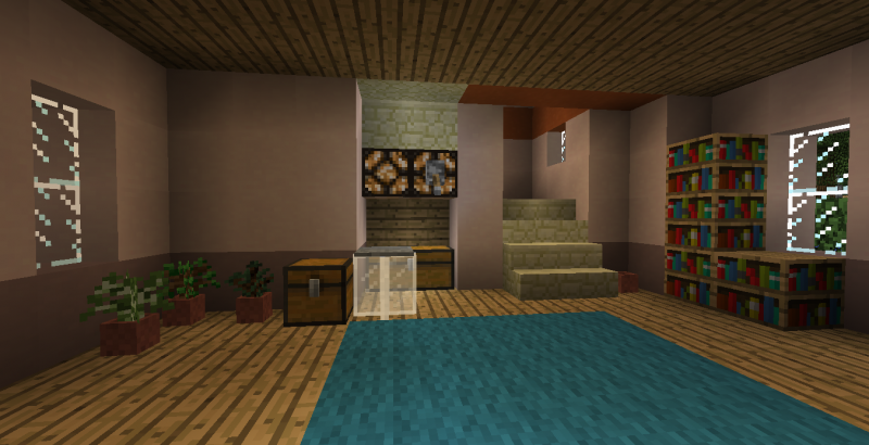 Small Pink Suburban House Blueprints For Minecraft Houses Castles Towers And More Grabcraft