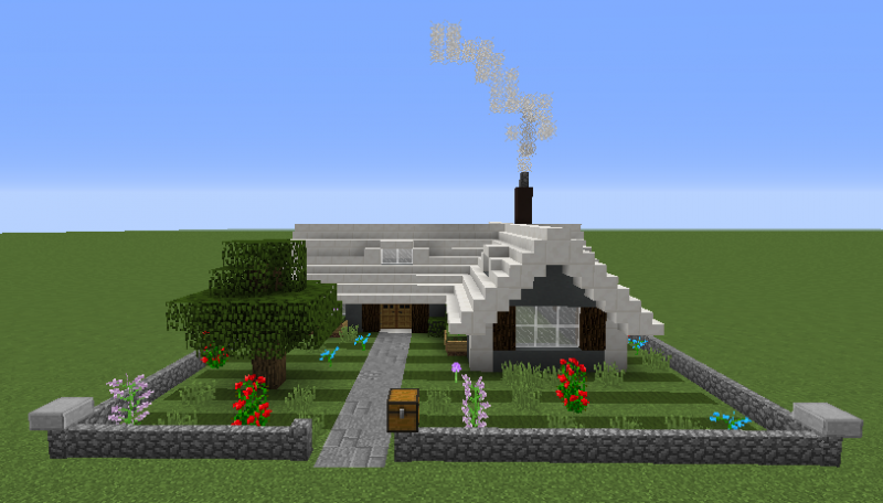 Small Suburban House Blueprints For Minecraft Houses Castles Towers And More Grabcraft
