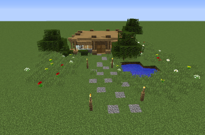 Small Survival House Blueprints For Minecraft Houses Castles Towers And More Grabcraft