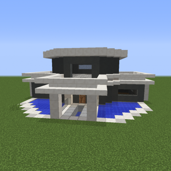 Small Unfurnished Modern House 1 Blueprints For Minecraft Houses Castles Towers And More Grabcraft