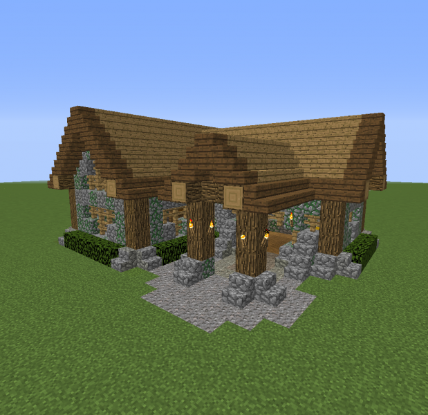 large small village house 1 12952 - Download Small Village House Design Minecraft Background