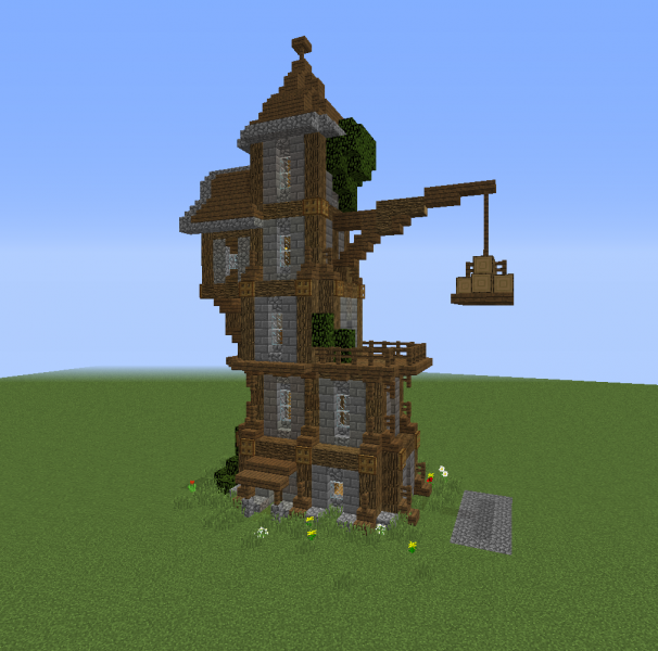 Small Wizard Tower 2 Blueprints For Minecraft Houses Castles