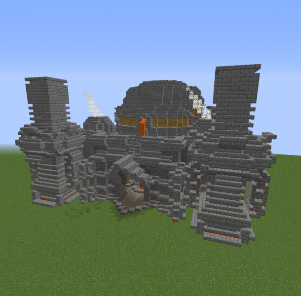 Steampunk Industrial Forge Blueprints For Minecraft Houses Castles Towers And More Grabcraft