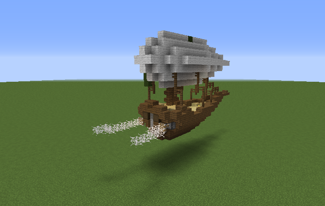 Steampunk Medieval Airship - Blueprints for MineCraft ...