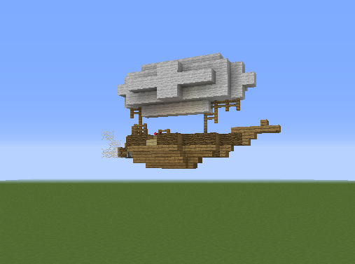 Small Airship - Blueprints for MineCraft Houses, Castles ...