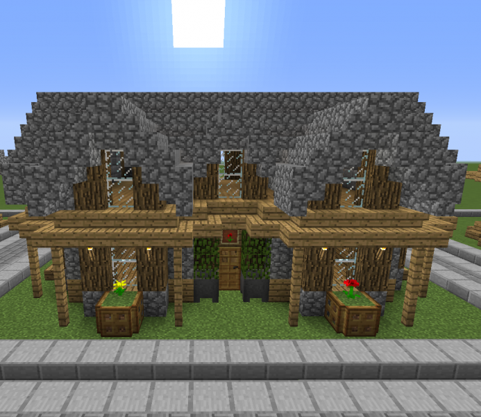 Stone Roof Medieval House 3 Blueprints For Minecraft Houses Castles Towers And More Grabcraft