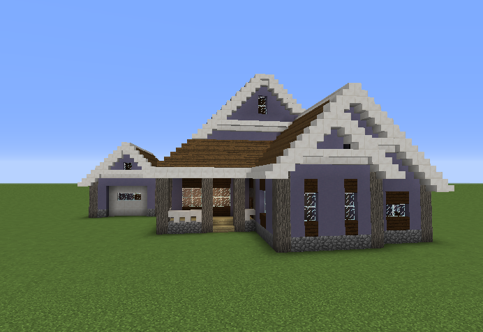 Suburban House Blueprints For Minecraft Houses Castles Towers And More Grabcraft