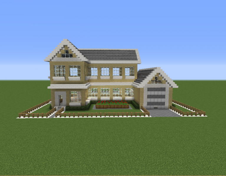 Suburban House 5 Blueprints For Minecraft Houses Castles Towers And More Grabcraft