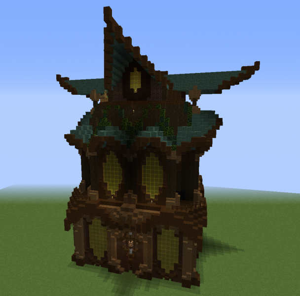 Tall Fantasy House 2 Blueprints For Minecraft Houses Castles Towers And More Grabcraft