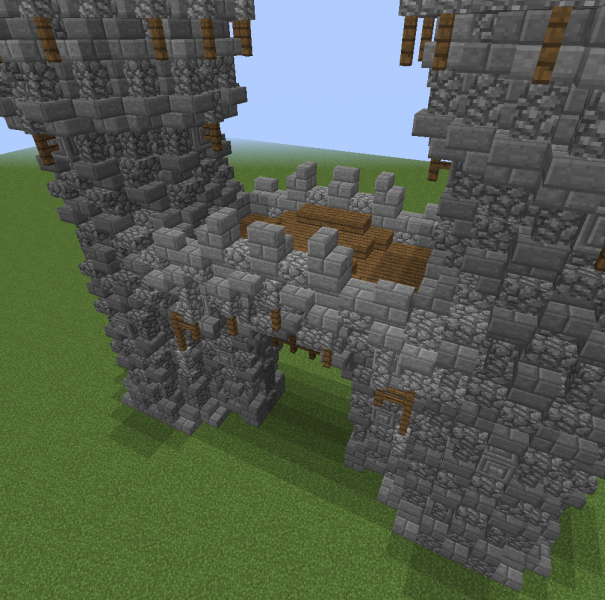 Tall Medieval Gate Blueprints For Minecraft Houses Castles