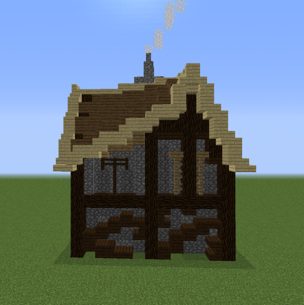 Unfurnished Medieval Tall House 7 Blueprints For Minecraft Houses Castles Towers And More Grabcraft