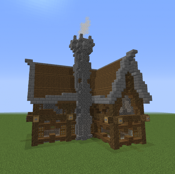 Unfurnished Medieval Tall House 8 Blueprints For Minecraft Houses Castles Towers And More Grabcraft