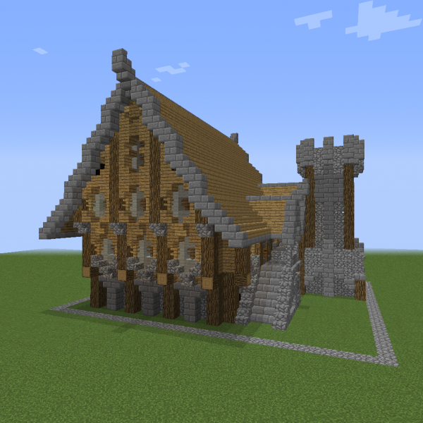 Unfurnished Nordic Large House 1 Blueprints For Minecraft Houses