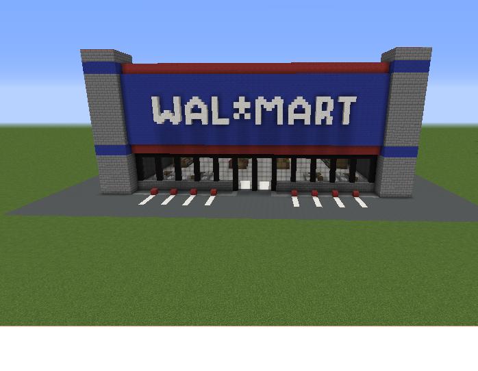 Minecraft Walmart Building