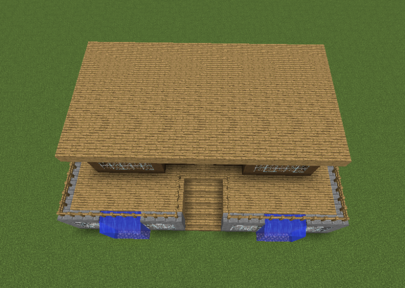 Waterfall Survival House Blueprints For Minecraft Houses Castles Towers And More Grabcraft