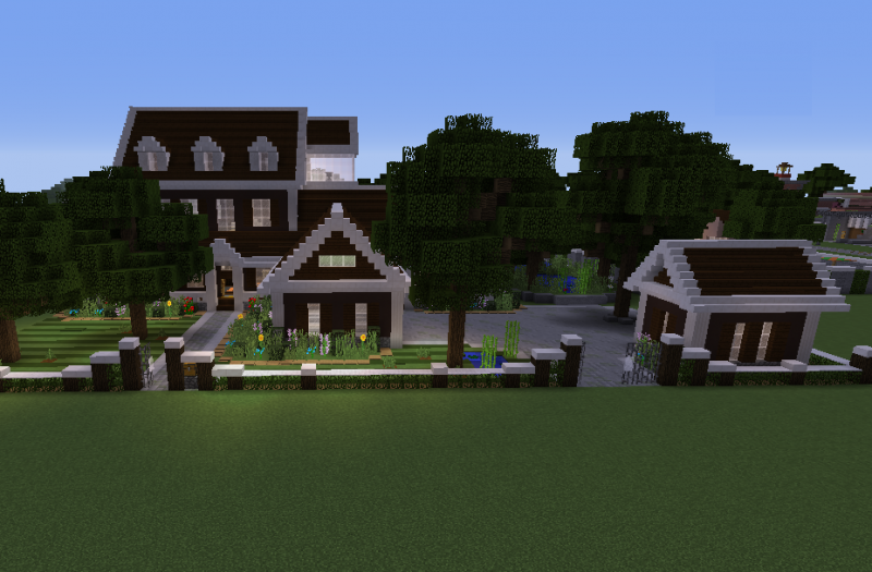 Wooden Mansion Blueprints For Minecraft Houses Castles Towers And More Grabcraft