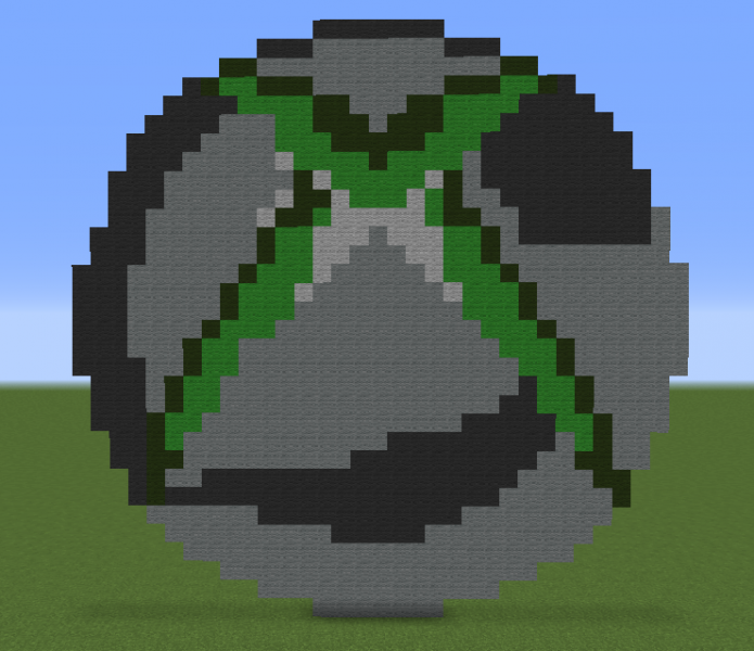 Xbox 360 Logo Blueprints For Minecraft Houses Castles Towers And More Grabcraft
