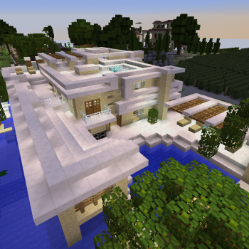 Big Modern House Blueprints For Minecraft Houses Castles