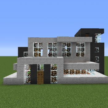 Black White Modern House Blueprints For Minecraft Houses Castles Towers And More Grabcraft