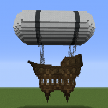 Fantasy Airship 4 - Blueprints for MineCraft Houses ...