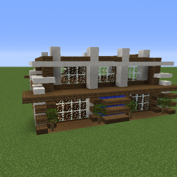 Modern Beach House Blueprints For Minecraft Houses Castles Towers And More Grabcraft
