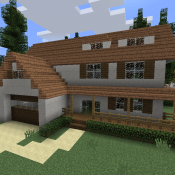 Modern Wooden House 1 Blueprints For Minecraft Houses Castles