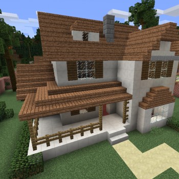Modern Wooden House 8 Blueprints For Minecraft Houses Castles Towers And More Grabcraft