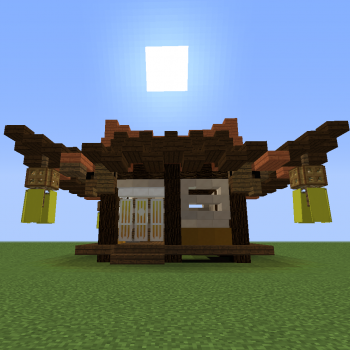 Old Japan Small House Blueprints For Minecraft Houses Castles Towers And More Grabcraft