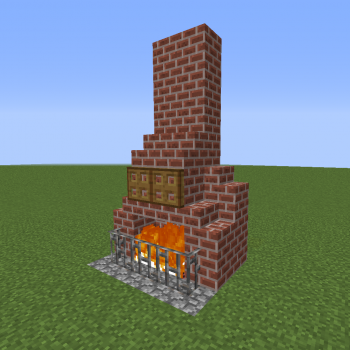 Simple Fireplace Design 4 Blueprints For Minecraft Houses Castles Towers And More Grabcraft