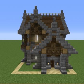 easy minecraft house ideas small