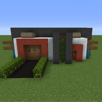 Small Modern House Blueprints For Minecraft Houses Castles Towers And More Grabcraft