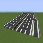 3 Lane Highway with Exit Lane