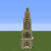 Arabic Desert Temple Tower