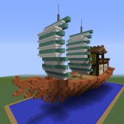 Asian Merchant Sail Ship 2