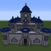 Castle With Blue Towers